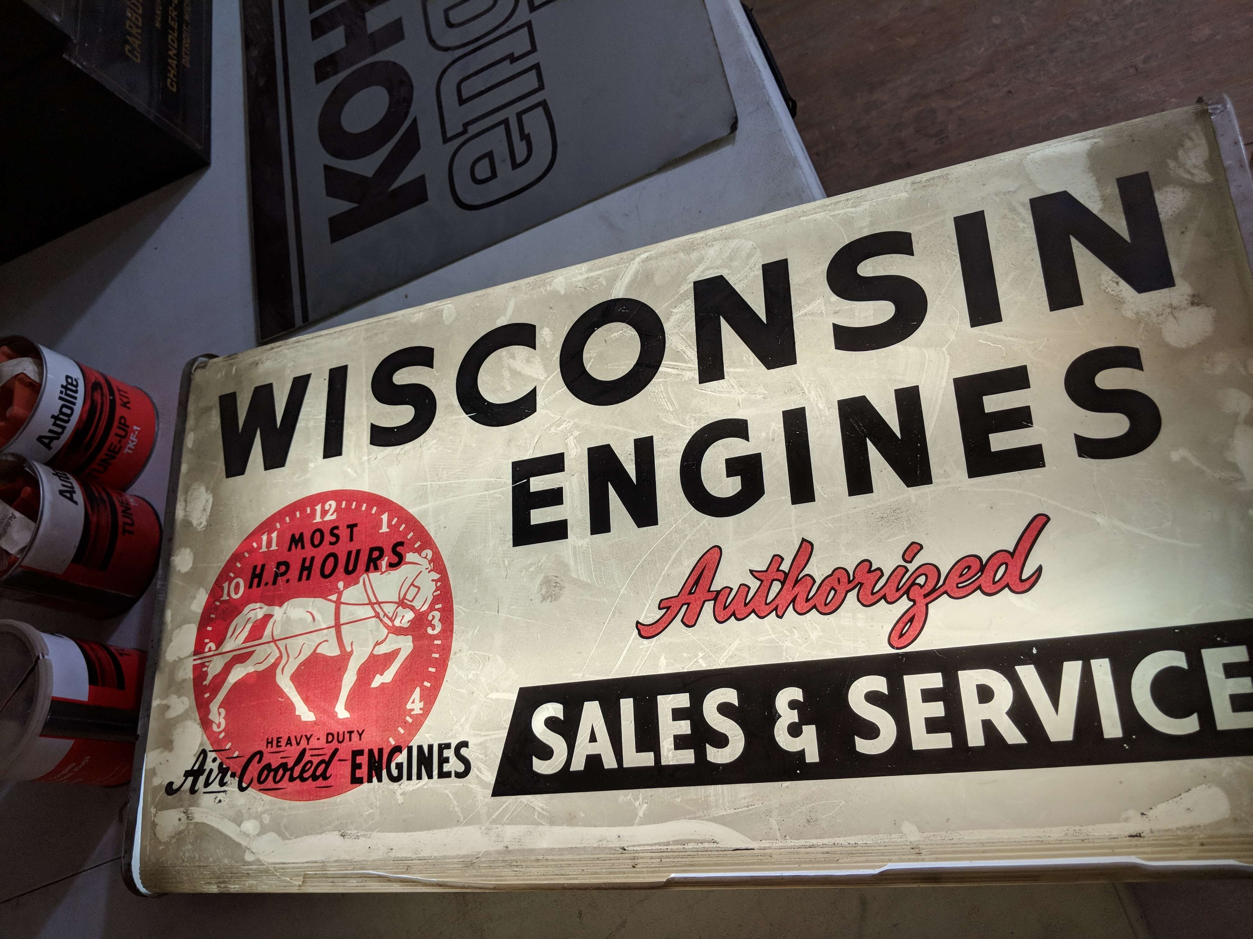 Wisconsin Engines Sign - Fox Auction Company
